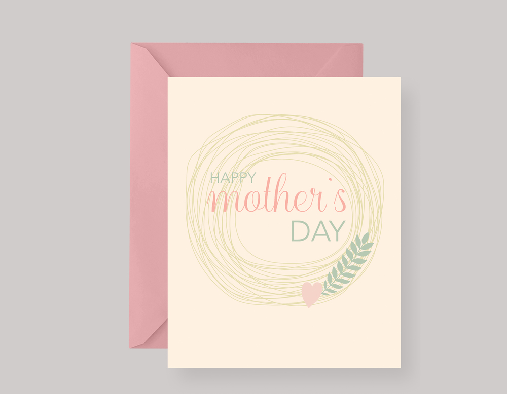 MODERN FLORAL MOTHER'S DAY CARD $4.00+