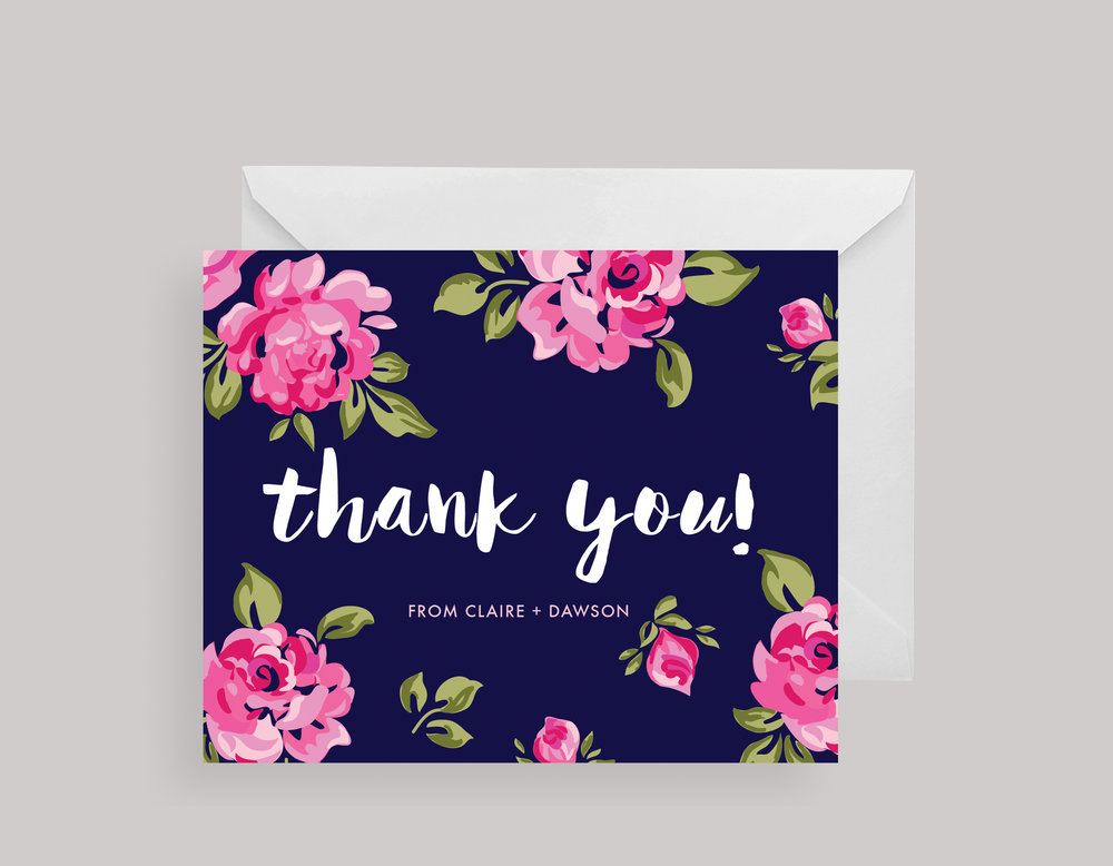 """THANK YOU CARDS—""""Claire"""" $15.00+"""