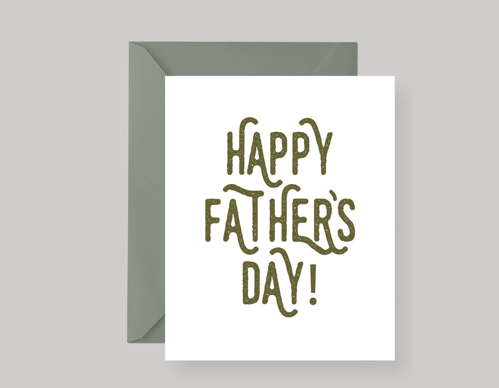 "FATHER'S DAY CARD—""Happy"" $4.00+"