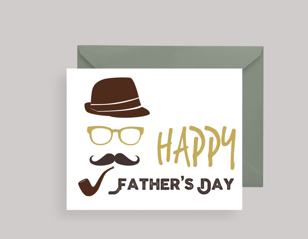 "FATHER'S DAY CARD—""Mustache"" $4.00+"