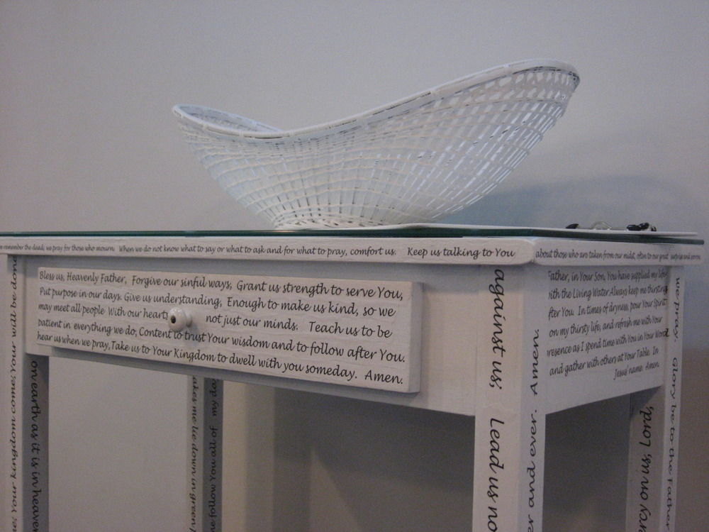 Close-up, Prayer Center Desk, prayer text