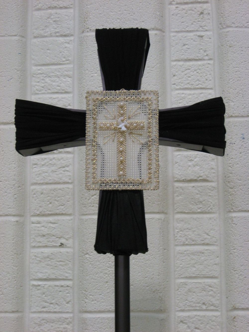 Processional Cross re-formed into Good Friday Cross