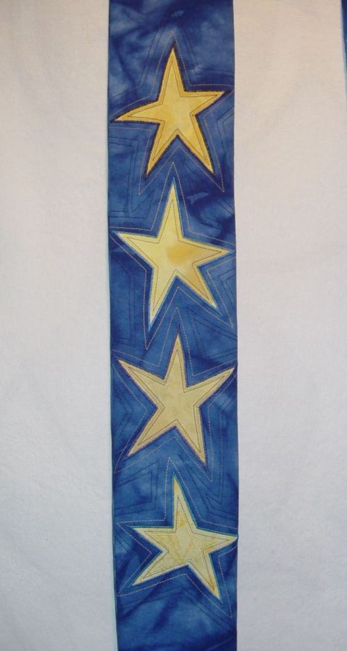 Advent Stole, detail, 4 Stars