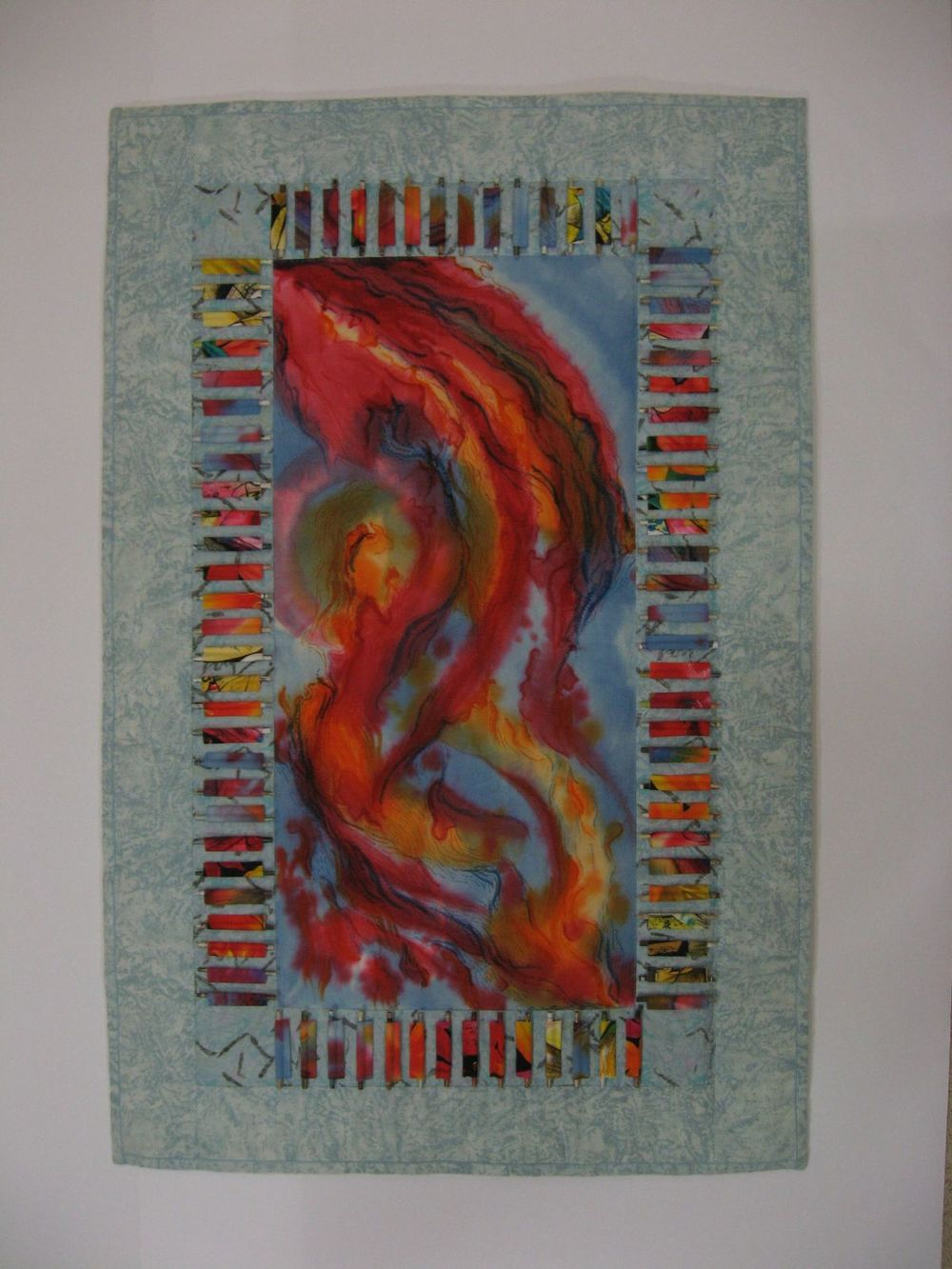 'One Spirit, Many Gifts', mixed media, including hand-dyed cloth and found papers