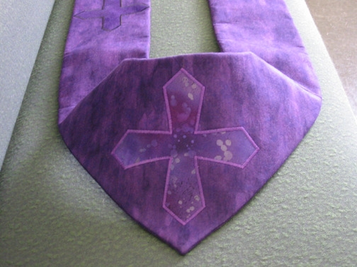 Back detail, Pastoral Stole, Lent