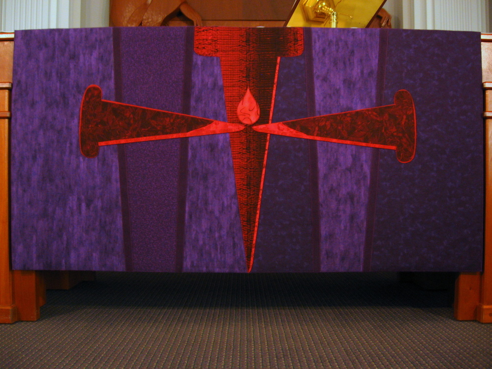 Swords Into Nails, Altar frontal, Lent