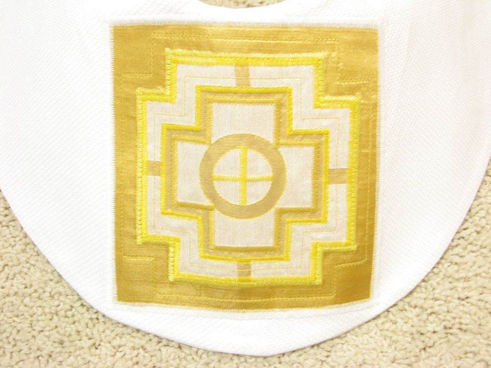 Detail, center back, White Stole