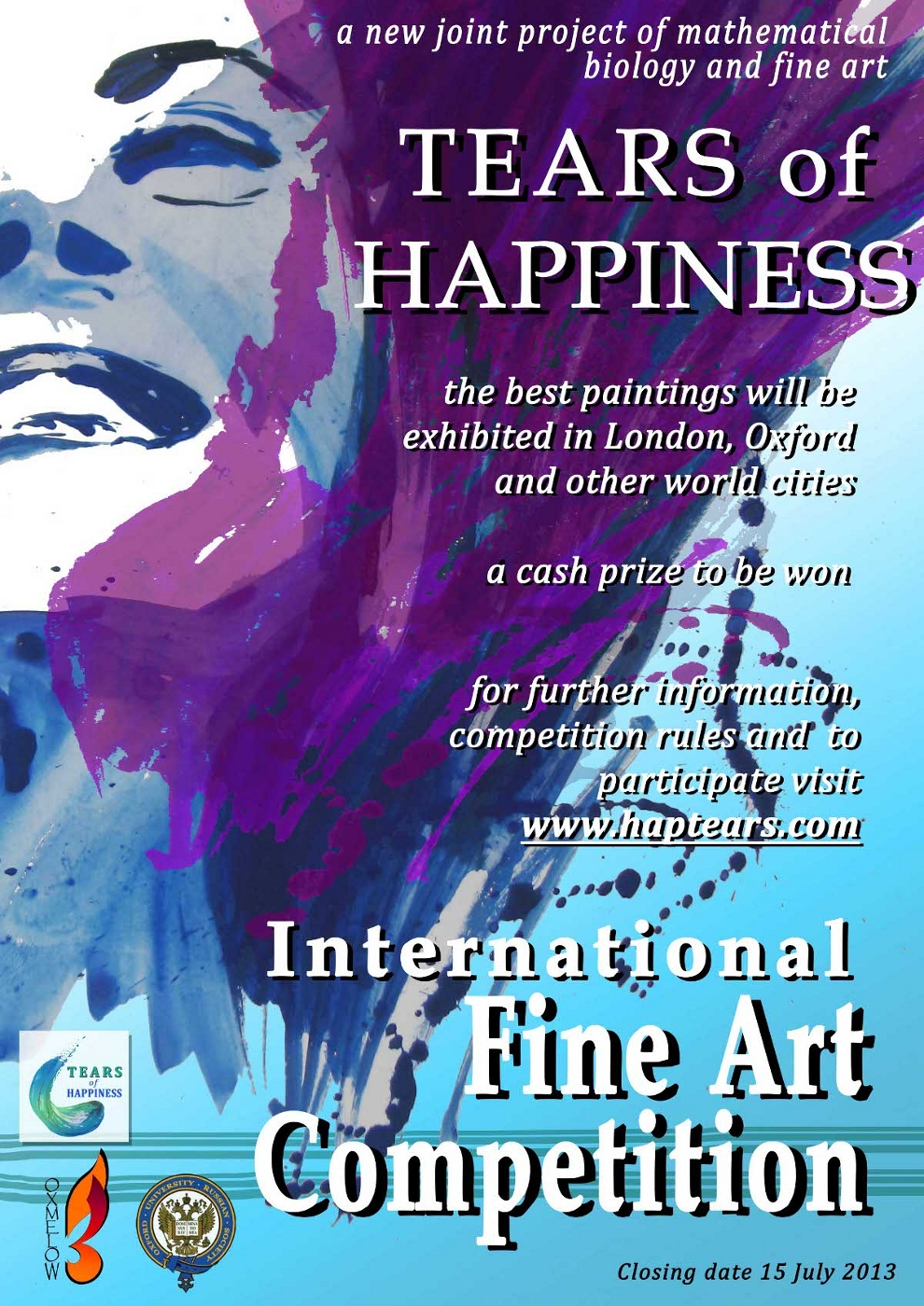 "Poster of the ""Tears of Happiness"" Fine Art Competition"