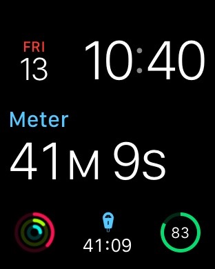Watch Face (middle and bottom center)