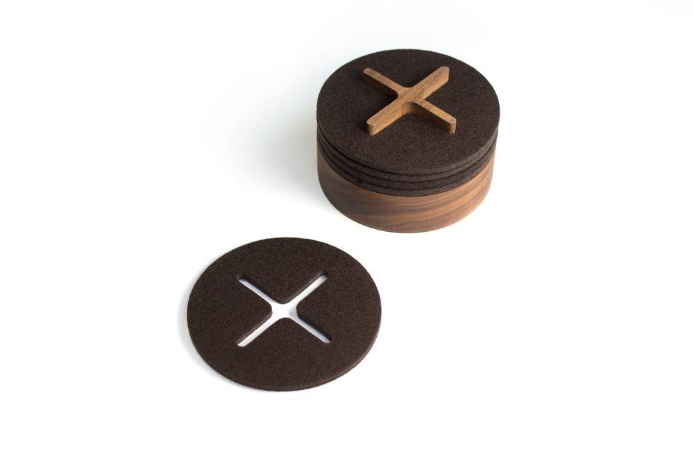 felt+wood   Coasters