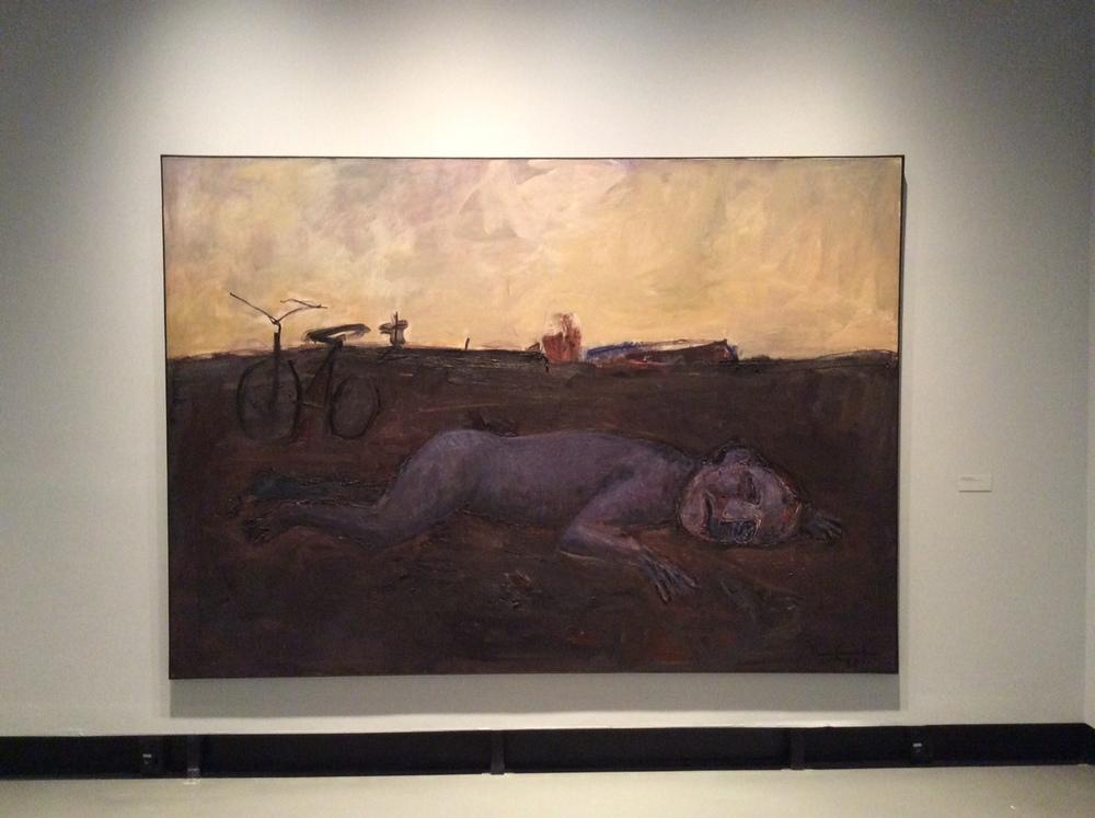 NO VENTO E NA TERRA, 1991  Óleo sobre tela  Col. Pinacoteca APLUB de Arte Riograndense