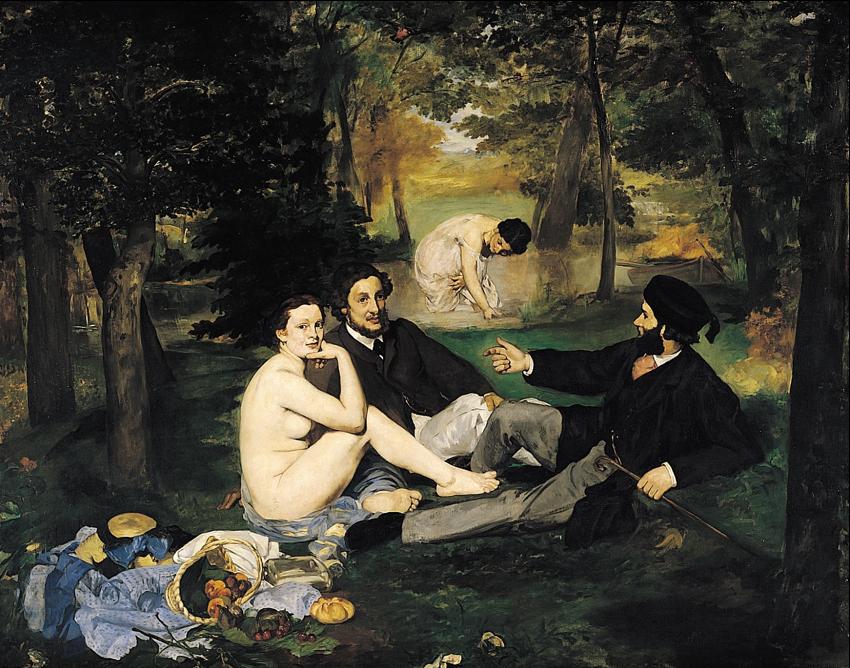 Almoço na relva, 1863