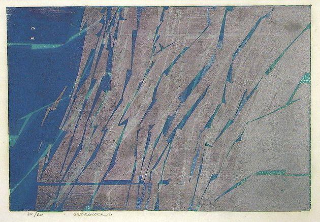 FAYGA OSTROWER  Sem Título, 1970  Xilogravura  21 x 31 cm