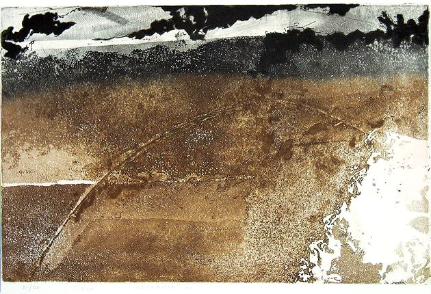FAYGA OSTROWER    Terra, dia e mês desconhecidos 1993   metal   32,1 x 49,5 cm [mancha] / 56,4 x 72,7 cm [papel]