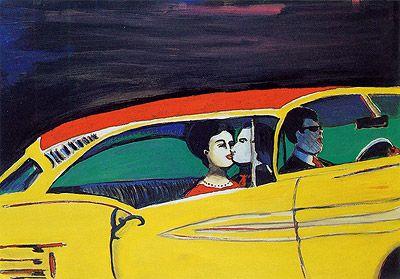 Série Banco de Trás , 2004 70 x 100 cm acrílica, óleo e lápis sobre papel maruflado sobre tela