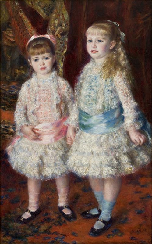 """Rosa e Azul"" - ""As Meninas Cahen d'Anvers"", 1881, MASP)"