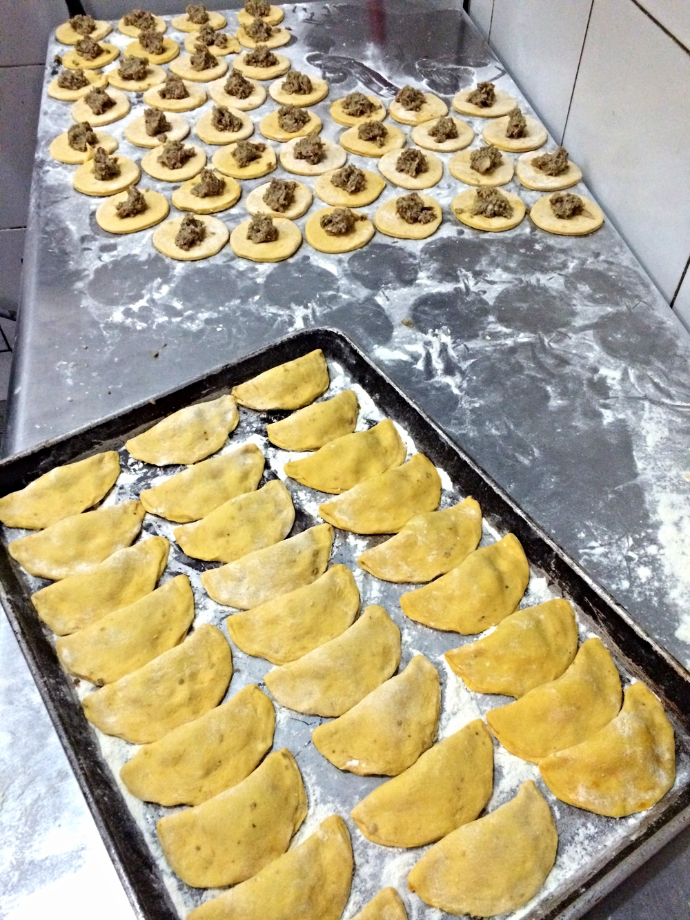 also making some lancaster mushroom stuffed dumplings for you . . . yes, we will add some brown butter and alpine asiago . . .