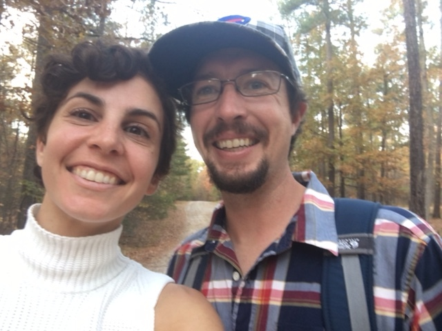 Erik and I enjoying the fall leaves in Harbison State Park, SC. Thanksgiving Day 2016.