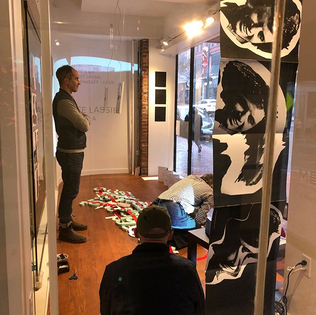 ReWrite Workshop with Peter Hall and Mark Zurolo in the final stages! Thank you for your time, we all had a blast! Check out our work displayed in the Bob Crew Gallery window on Congress St. @peter.hall @mecagd @mecaart @intertopia @uconngraphicdesign