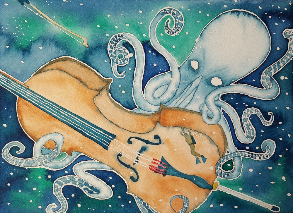 """Kraken Plays the Cello"" 