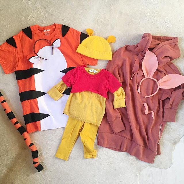 just in case we don't get a photo in them // #familycostume #winniethepooh