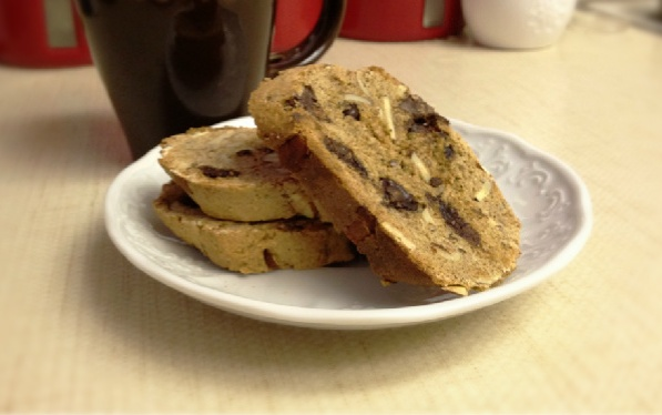 Dark Chocolate and Almond Biscotti