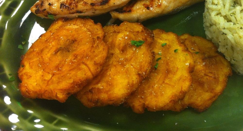 Traditional Tostones: Twice-Fried Green Plantains — Delish Megish