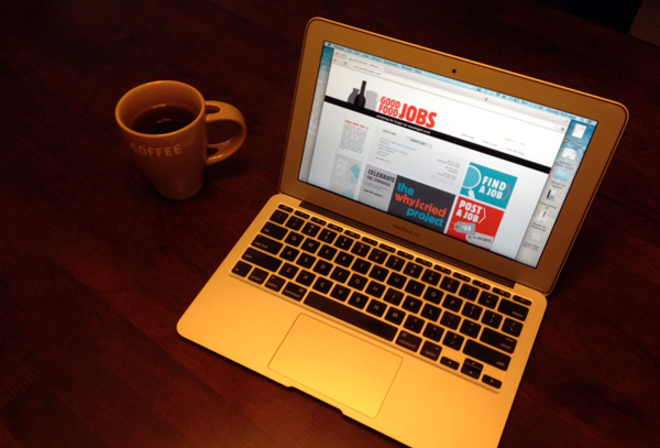 How I Job Hunt: my laptop and trust cup of black coffee