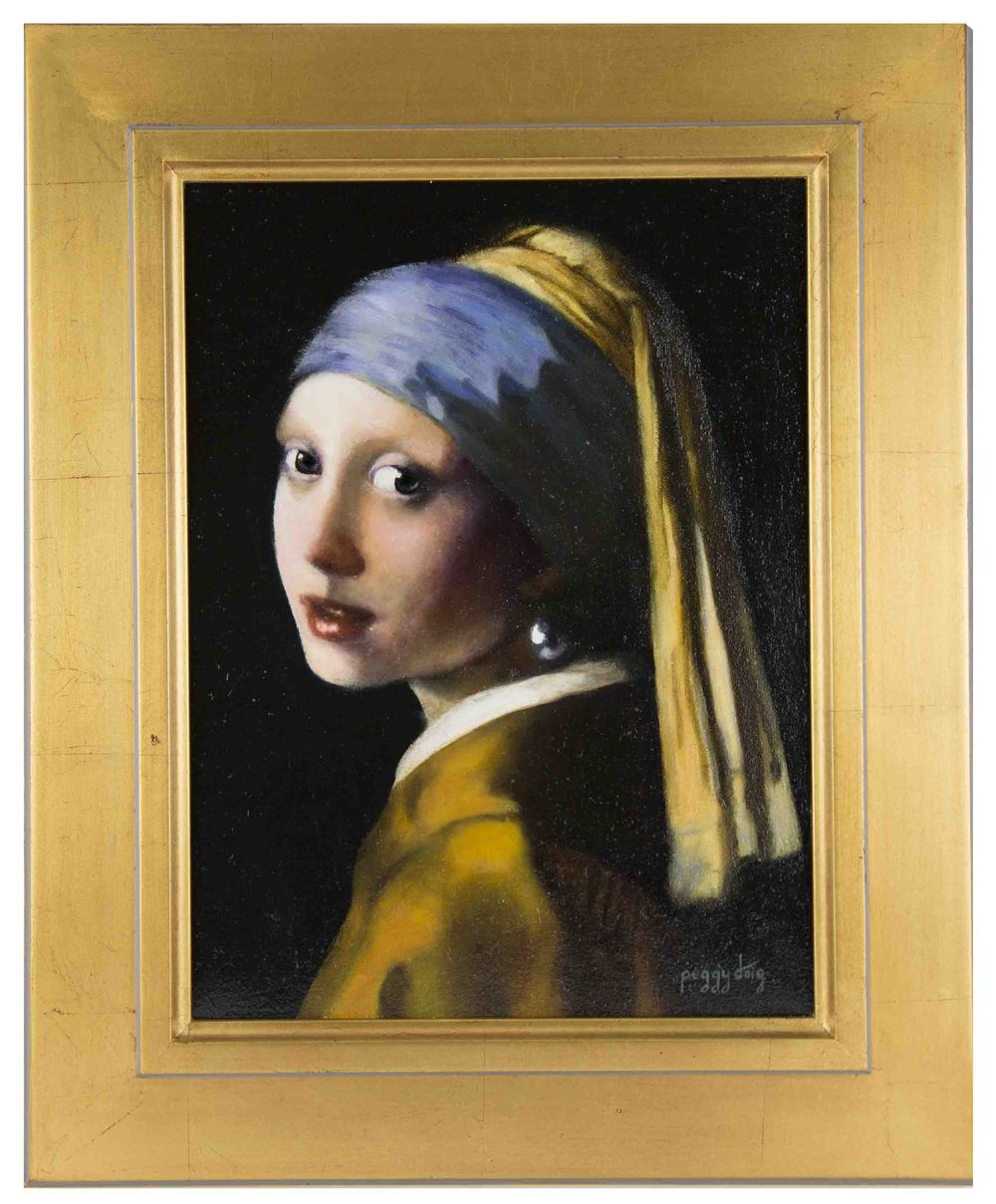 HOMAGE TO VERMEER' DISCOVERING HOW HIS PAINTS FLESH: OIL ON CANVAS NFS
