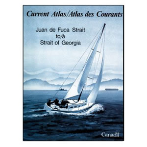 Current Charts are found in a book of the cruising area, such as this chart book published in Canada