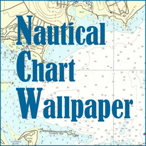 A new topo of converstion nautical chart wallpaper