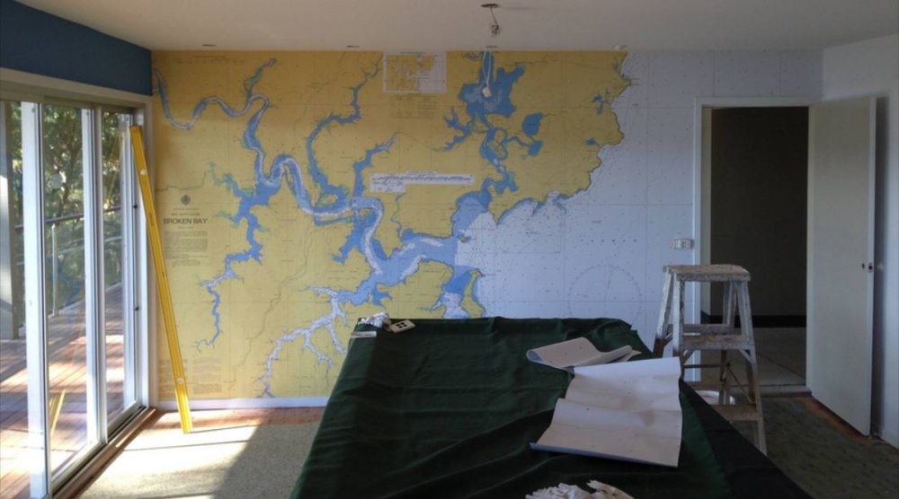 We have customers all around the world. Here is an office mural for a client in Austrailia!
