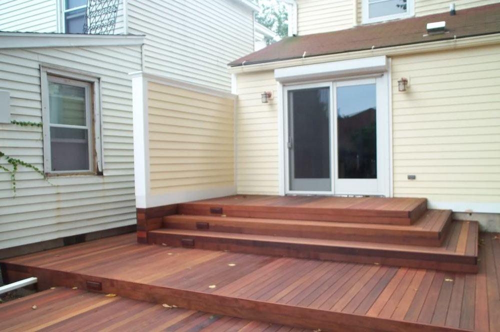 Ipe deck, Concealed cellar door
