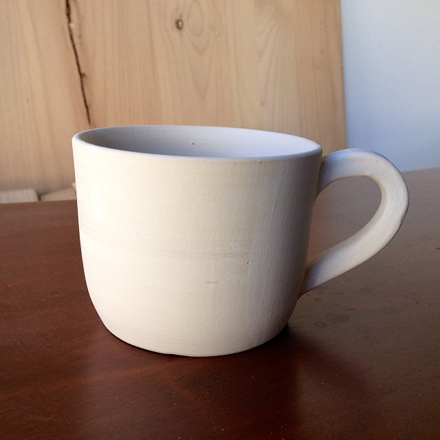 I can already tell this little guy is going to be on heavy rotation. #caseceramics #coffeemugs
