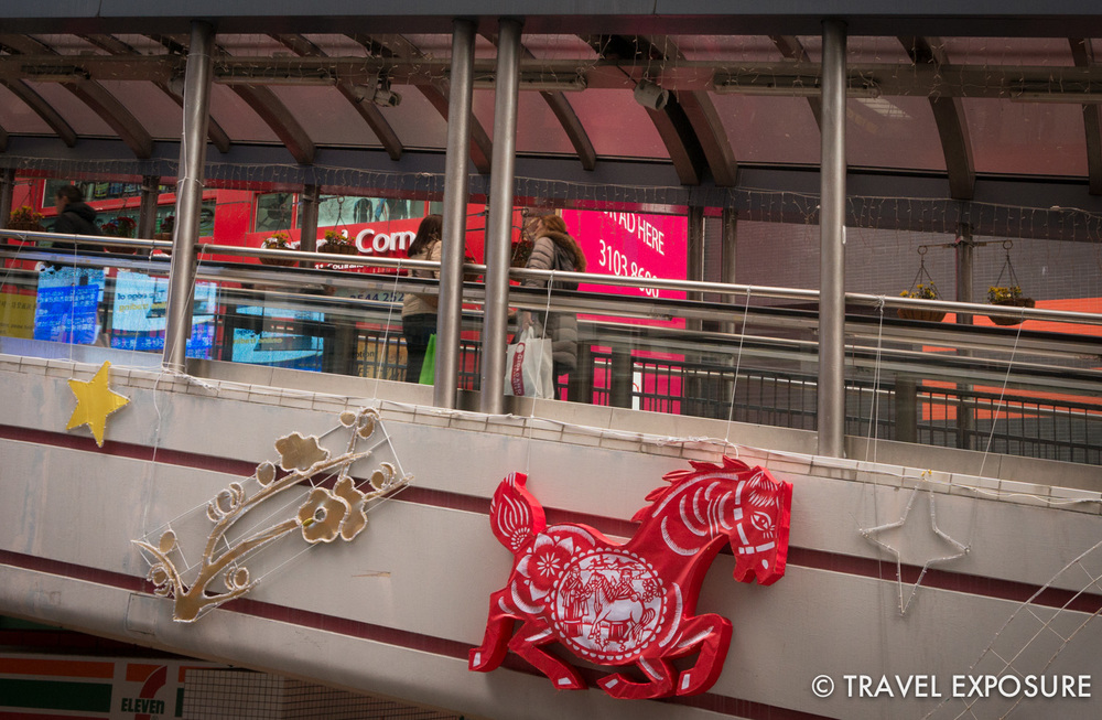 Decorations around the city celebrating the Year of the Horse.