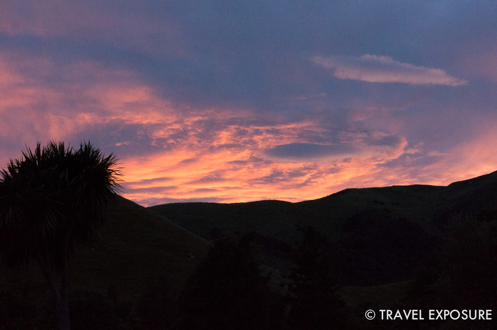 Sunset in Waimate