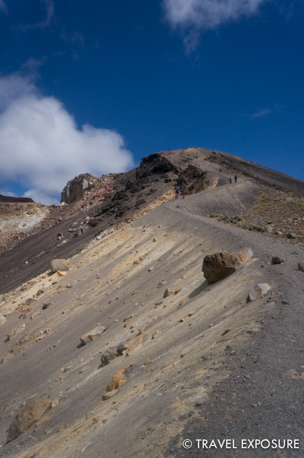 Tongariro Alpine Crossing Hike - can't believe we walked down this!