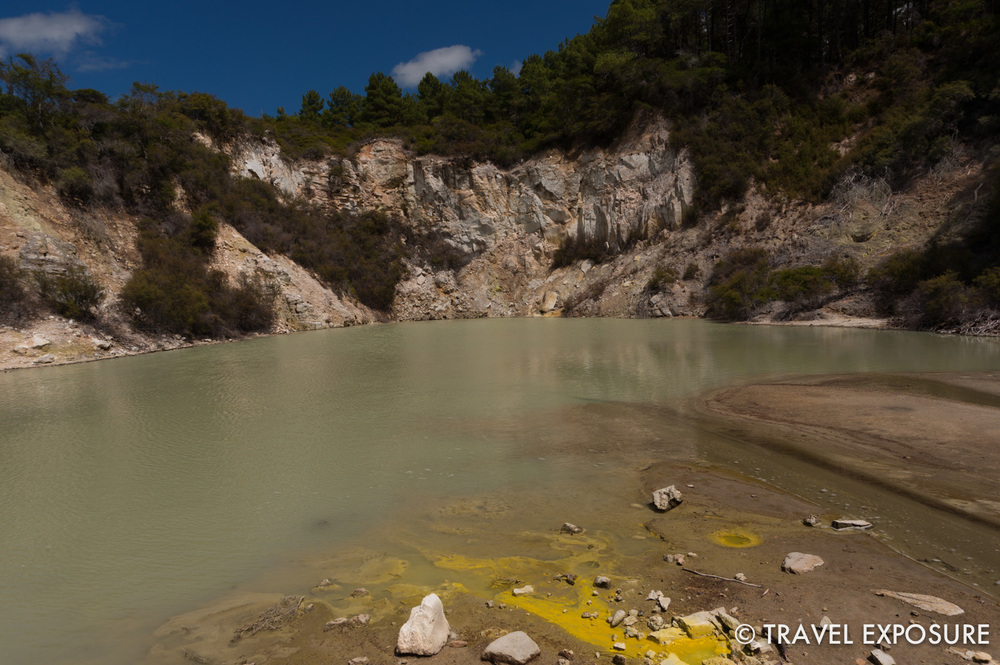 At the Wai-O-Tapu thermal wonderland
