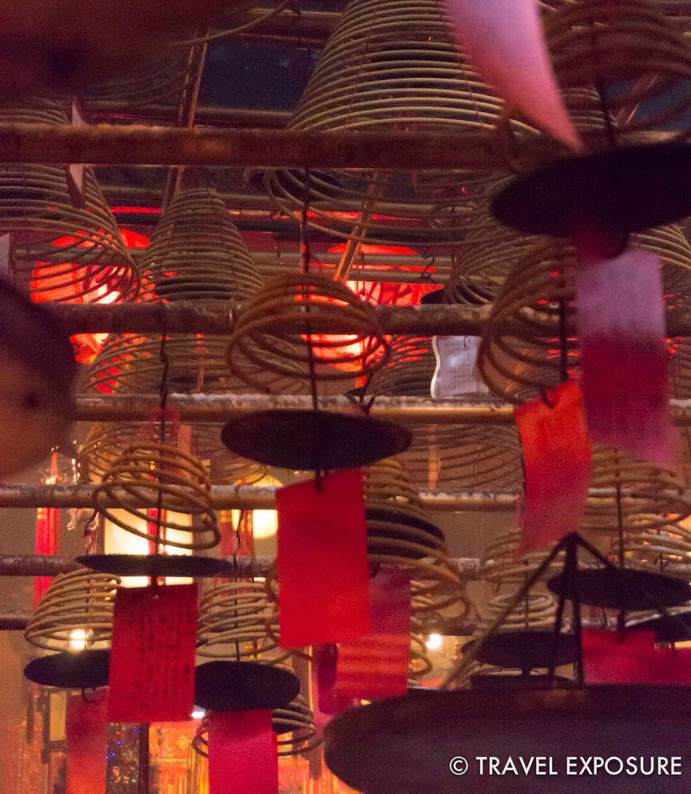 Giant hanging incense coils,at the Man Mo temple
