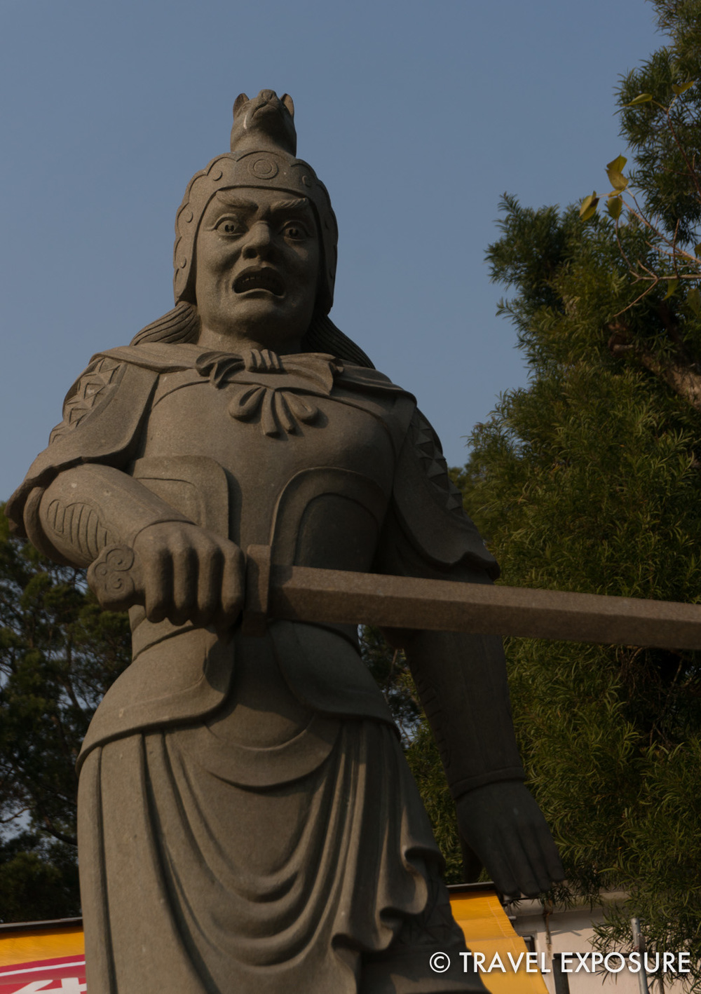 One of twelve statues representing the different aspects of the chinese zodiac; at Ngong Ping
