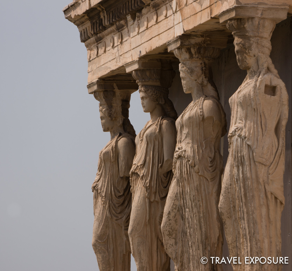 WEEK OF MARCH 31 Four maidens serve as supporting columns on the Porch of the Caryatids, Athens, Greece.