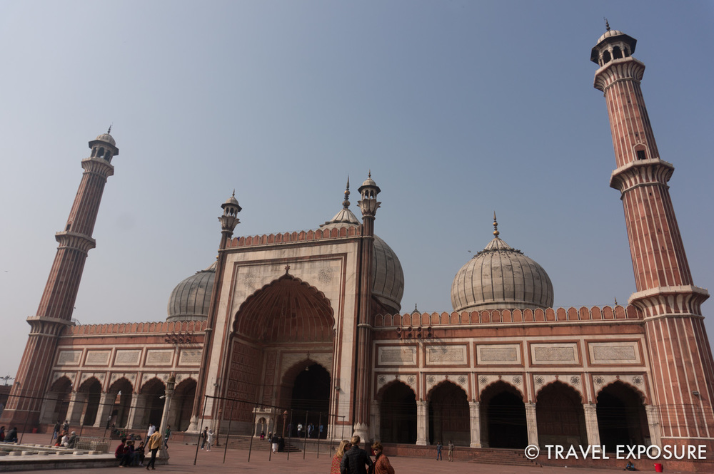 The Jama Masjid of Delhi, completed 1656, includes a courtyard that can hold up to 25,000 worshippers. Theonion domes and minarets - a hallmark of mosques and Islamic architecture - have a unique striped design.