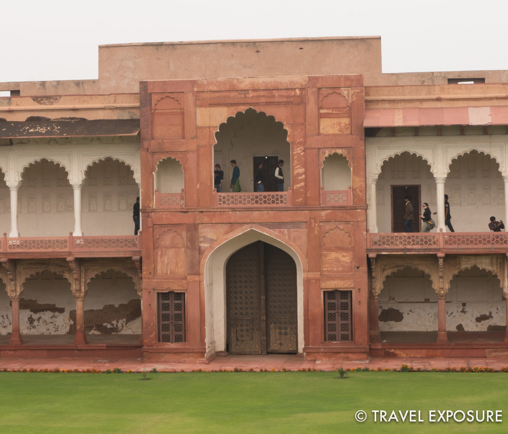 Courtyard atAgra Red Fort.