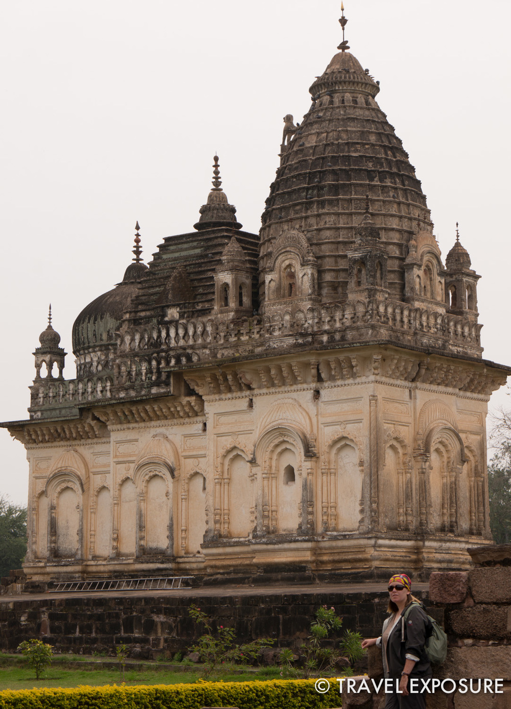 The ancient temples at Khajuraho were amazing. This newer temple incorporatesthree different domes representing multiple faiths in the community.