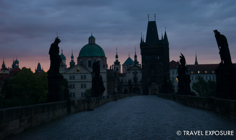 WEEK OF MAY 12  Statues decorate a 14th century stone bridge at sunrise in Prague, Czech Republic.