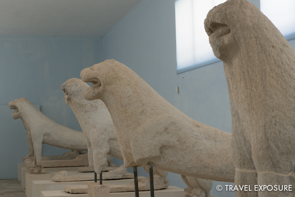 The original Naxian lions which guarded the birthplace of Apollo, now housed in the museum on the island.