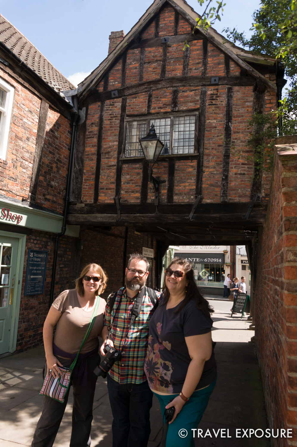 Here I am with Bryan and Jen in York.