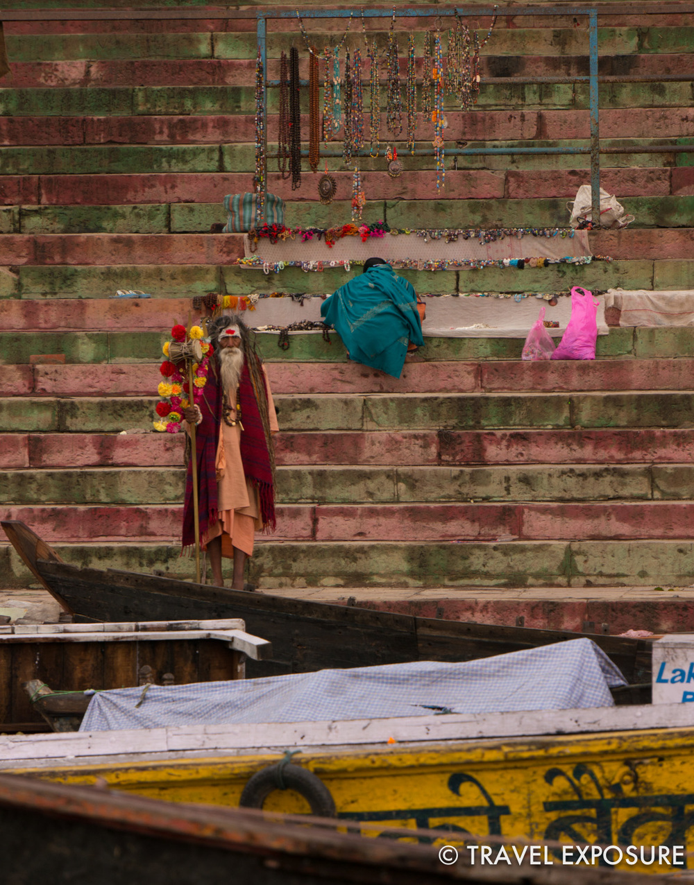 An ascetic on the ghats in Varanasi