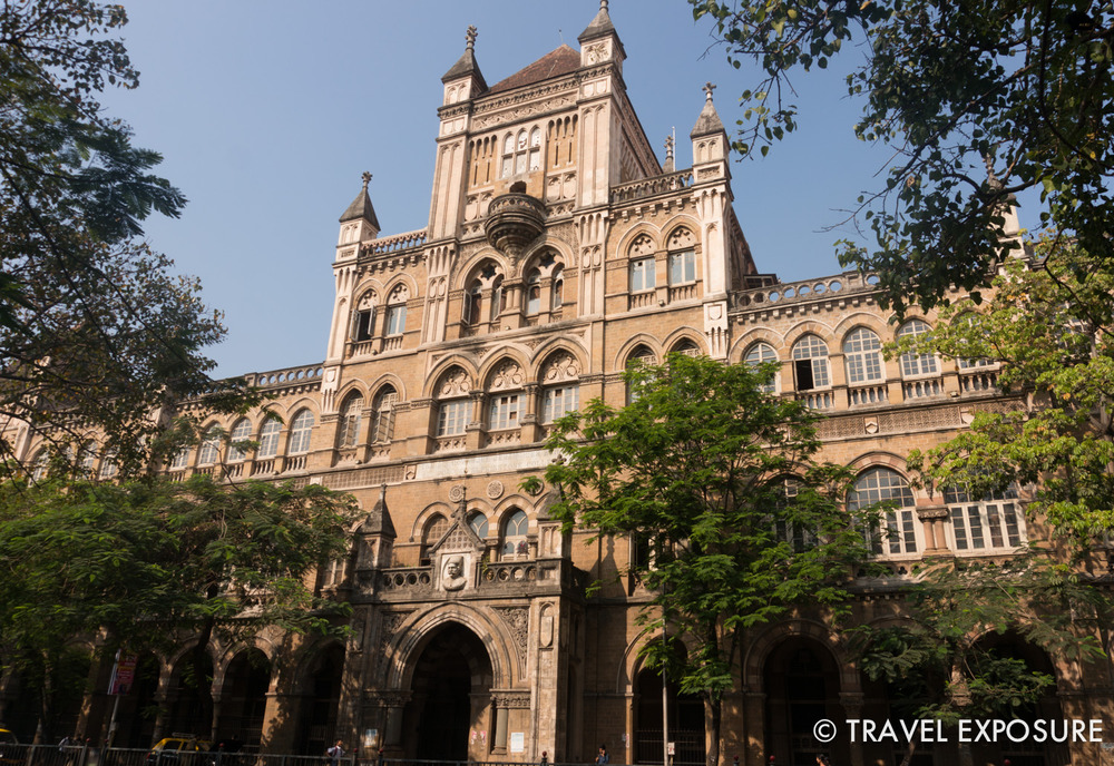 Snapped a shot of the gothic architecture ofElphinstone College in Mumbai