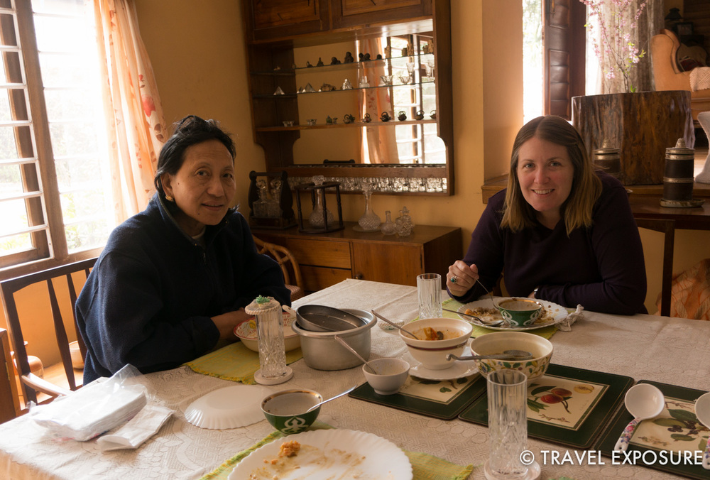 Pemla treated us to a variety of authentic Sikkimese meals - so delicious! She is passionate about food, travel, and social work, amongst other things, and reminded me so much of Wanchuk.
